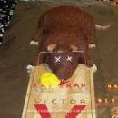 Dead Rat in Trap Halloween Cake Ideas