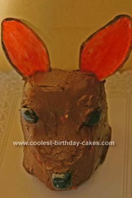 Homemade  Deer Head Cake Idea