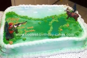 Homemade Deer Hunt Birthday Cake