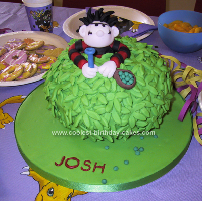 Homemade Dennis the Menace Birthday Cake