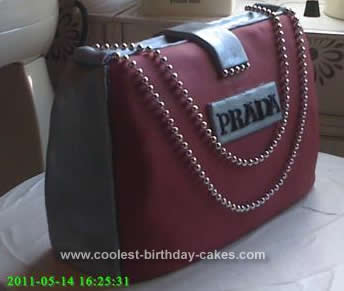 Homemade Designer Style Handbag Birthday Cake