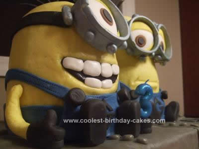 Homemade Despicable Me Birthday Cake