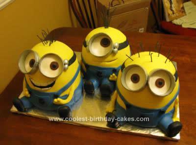 Homemade Despicable Me Minion Birthday Cake