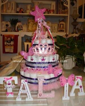 Homemade Diaper Cake