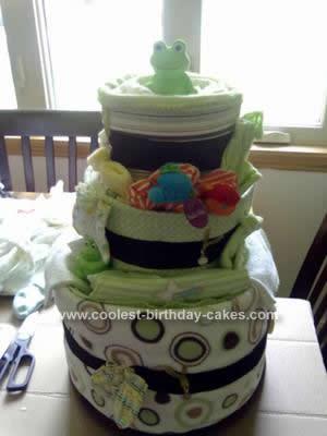 Homemade Diaper Cake Idea