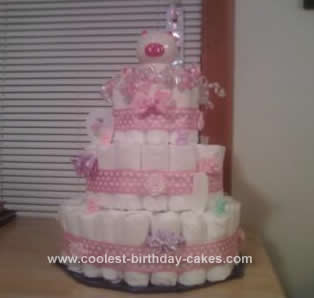Homemade Diaper Cake Idea