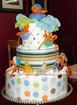 Homemade Diaper Ducky Cake