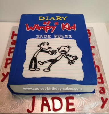 Homemade Diary of a Wimpy Kid Birthday Cake