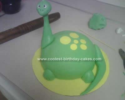 Homemade Dinosaur Birthday Cake