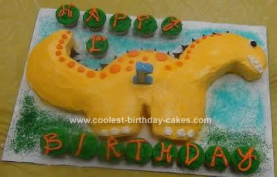 Dinosaur Birthday Cake on Coolest Dinosaur Birthday Cake Idea 123