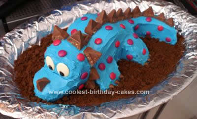 3d dinosaur birthday cake the body instructablescom for 3d dinosaur cake template