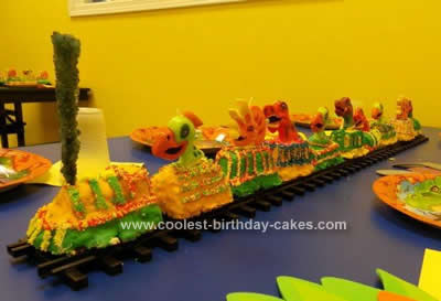 Homemade Dinosaur Train Cake