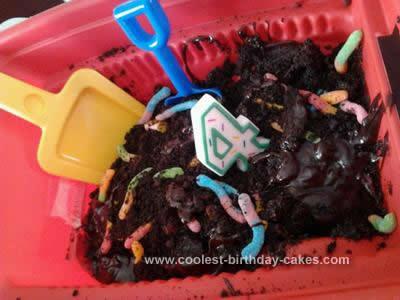 Homemade Dirt Cake in a Wheelbarrow Idea