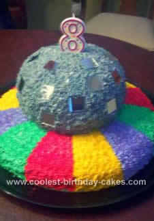 Homemade Disco Cake