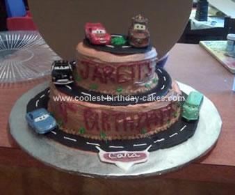 Homemade Disney Cars Cake
