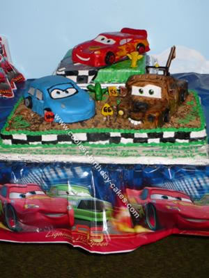 Disney Cars Birthday Cake On Images Of Cake6 300x192 Made Easy Wallpaper