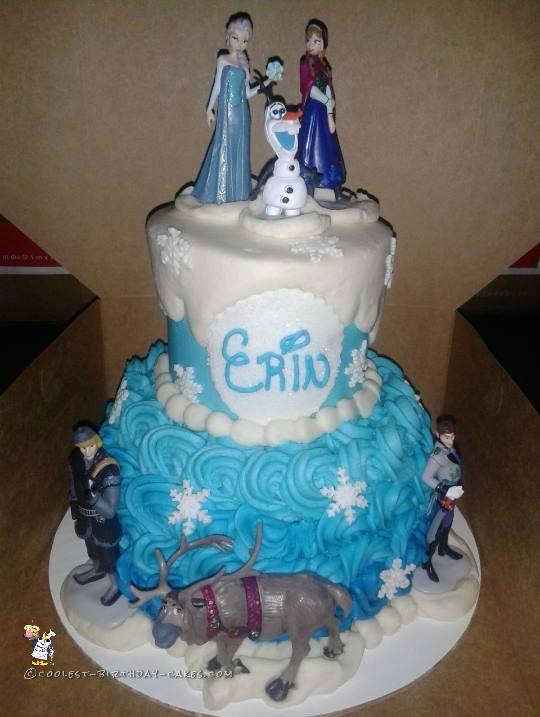2 Tier Frozen Character Cake