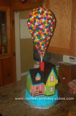 Homemade  Disney House Cake Design