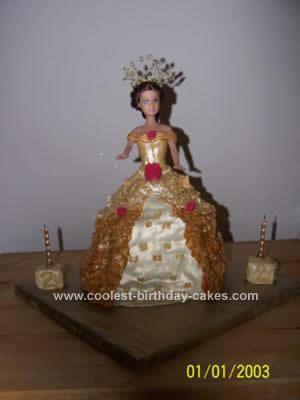 Homemade  Disney Princess Birthday Cake