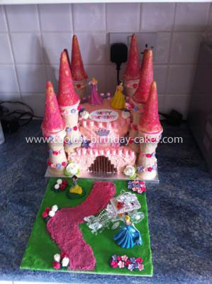 Coolest Disney Princess Castle Birthday Cake
