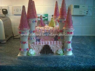 Coolest Disney Princess Castle Birthday Cake