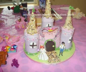 Homemade Disney Princess Castle Birthday Cake