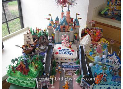 Homemade Disneyland Birthday Cake
