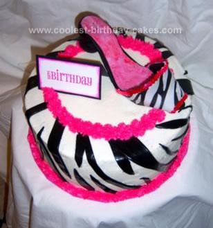 Homemade Diva Shoe Cake