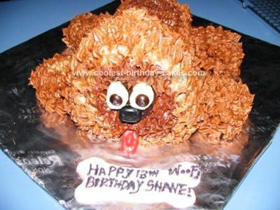 Homemade Dog Birthday Cake