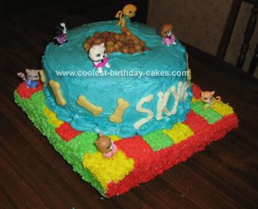 Homemade Dog Food Bowl Birthday Cake