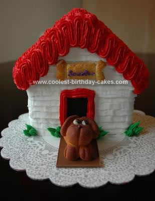 Homemade Dog House Cake 2
