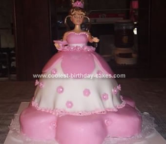 Homemade Doll Birthday Cake