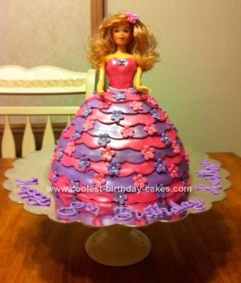 Homemade Doll Cake
