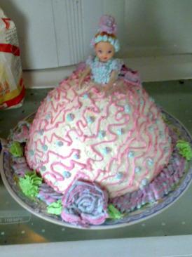 Homemade Doll Cake Idea