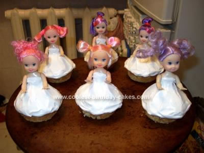 Homemade Doll Cupcakes