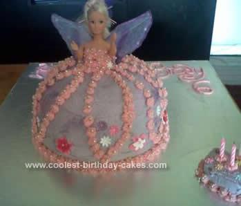 Homemade Doll Fairy Cake