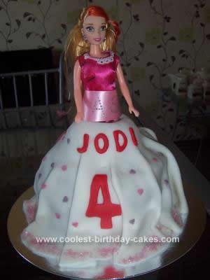 Homemade Dolly Birthday Cake