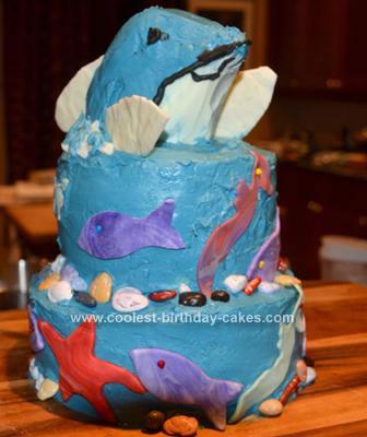 Homemade Dolphin Cake