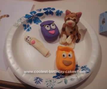 Homemade Dora and Diego Cake