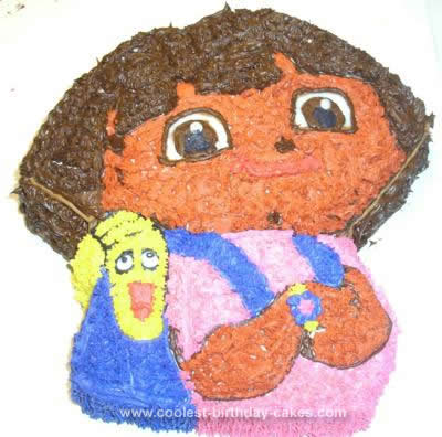 Homemade Dora Birthday Cake Idea