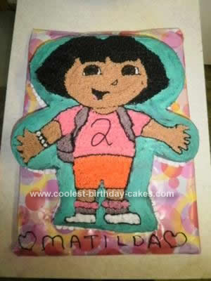 Homemade Dora Cake Idea