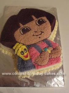 Homemade  Dora the Explorer Cake