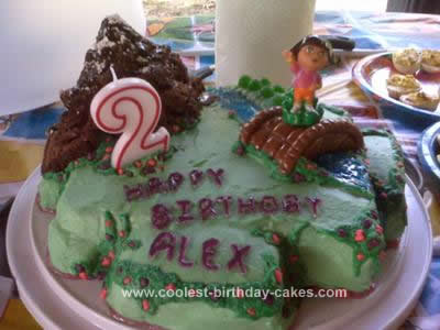 Homemade Dora's World Cake