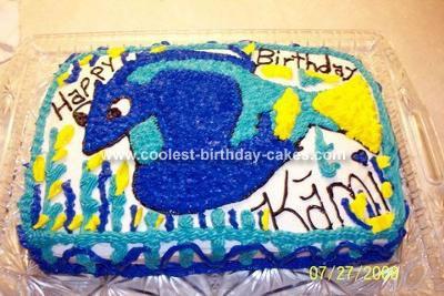 Dori from Finding Nemo Cake