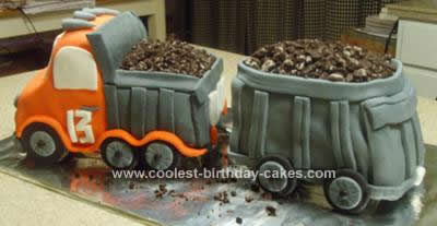 Homemade Double Dump Truck Cake