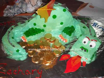Homemade Dragon Birthday Cake Design
