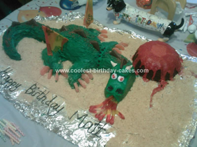 Homemade Dragon Cake