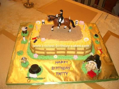 Homemade Dressage Horse Birthday Cake