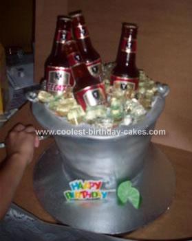 Homemade Drinks Birthday Cake