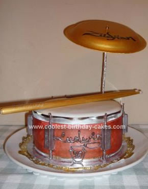 Homemade Drum Cake